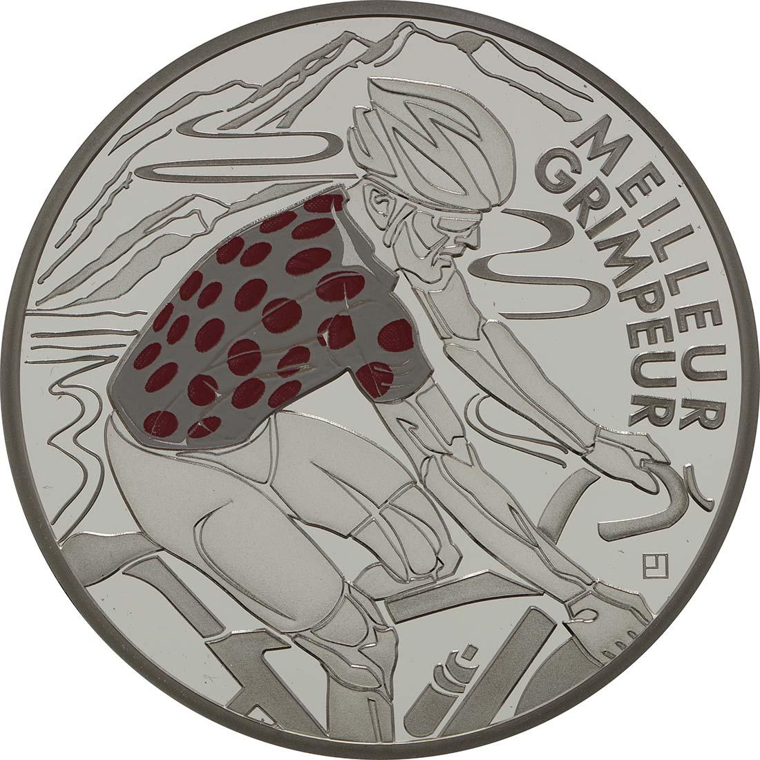 Vorderseite:Frankreich : 10 Euro rot gepunktetes Trikot  2013 PP
