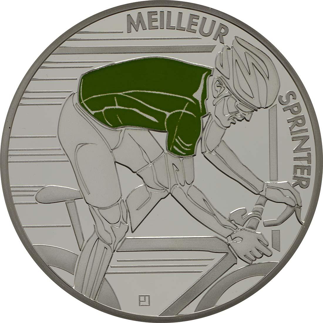 Vorderseite:Frankreich : 10 Euro grünes Trikot  2013 PP