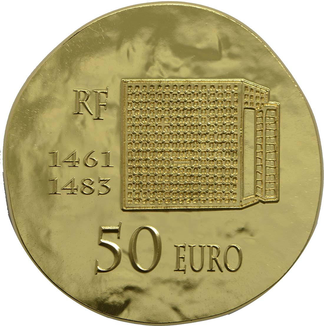 Rückseite:Frankreich : 50 Euro Louis XI.  2013 vz/Stgl.