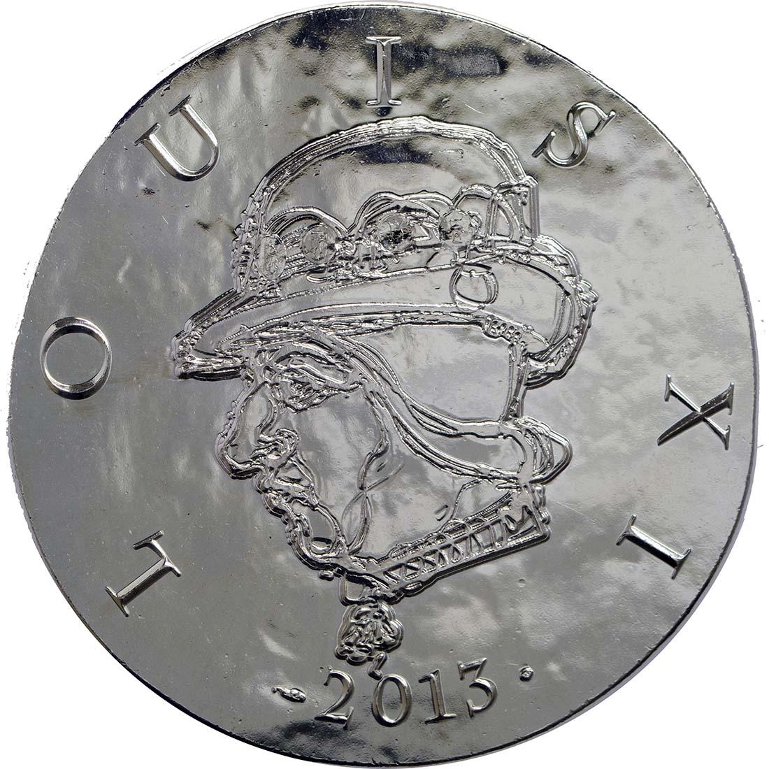Vorderseite:Frankreich : 10 Euro Louis XI.  2013 vz/Stgl.
