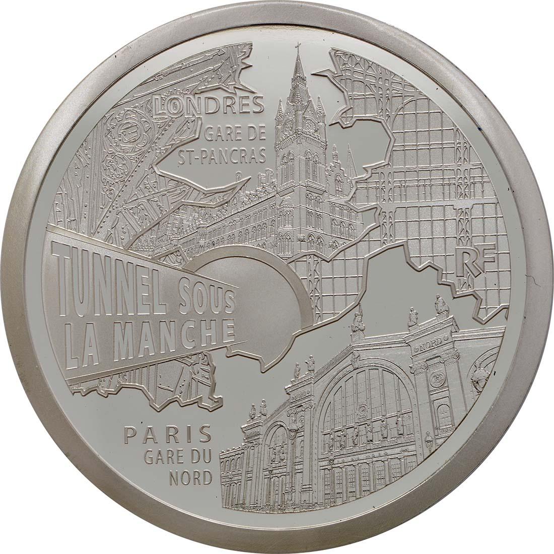 Vorderseite:Frankreich : 10 Euro Kanaltunnel  2013 PP
