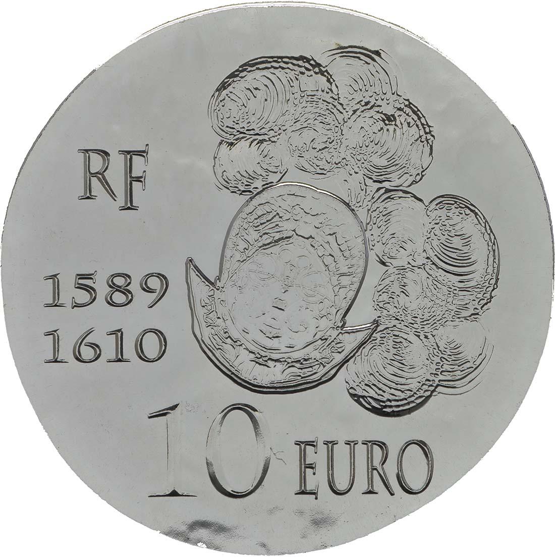 Vorderseite:Frankreich : 10 Euro Henri IV.  2013 Stgl.