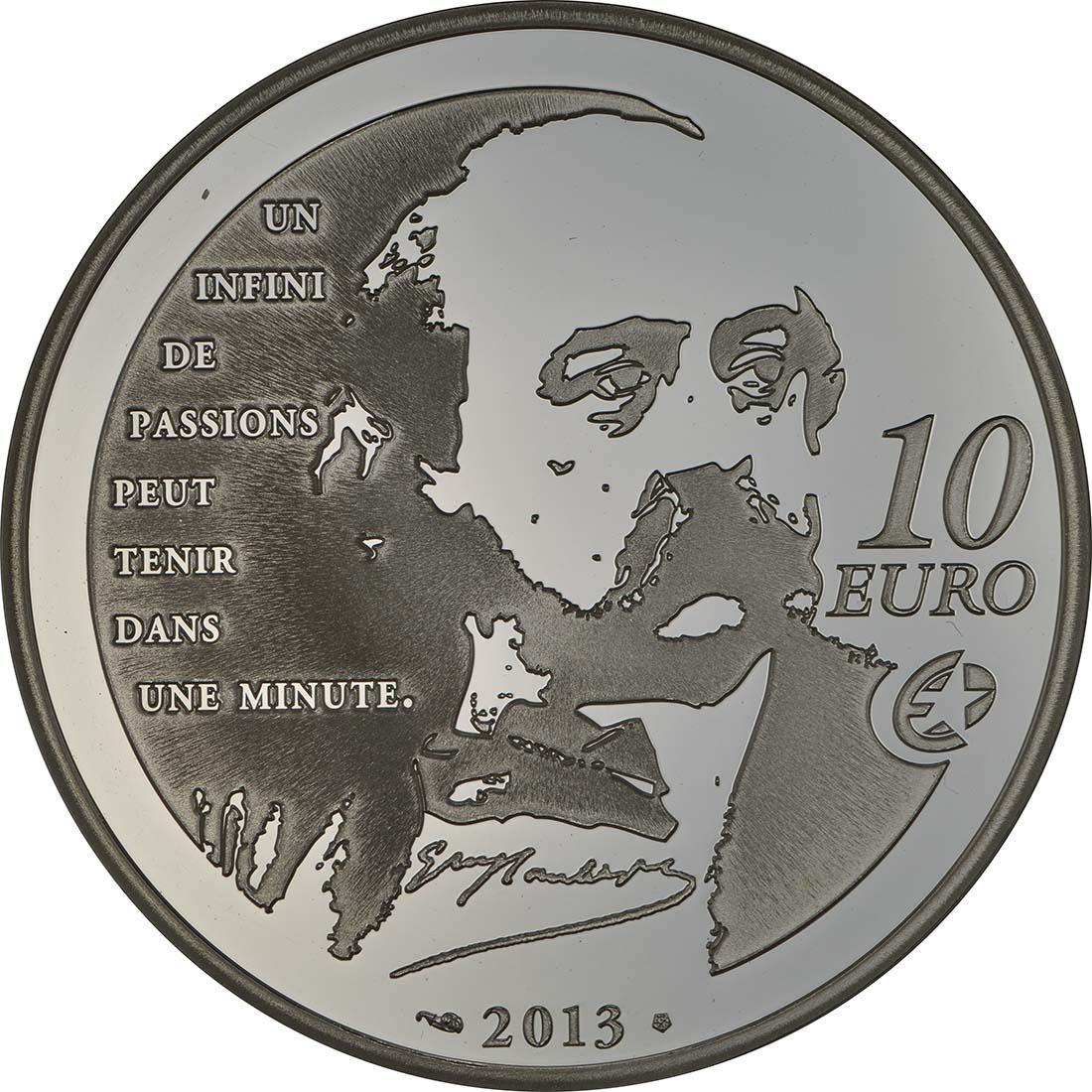 Rückseite:Frankreich : 10 Euro Madame Bovary - EUROPASTERN  2013 PP