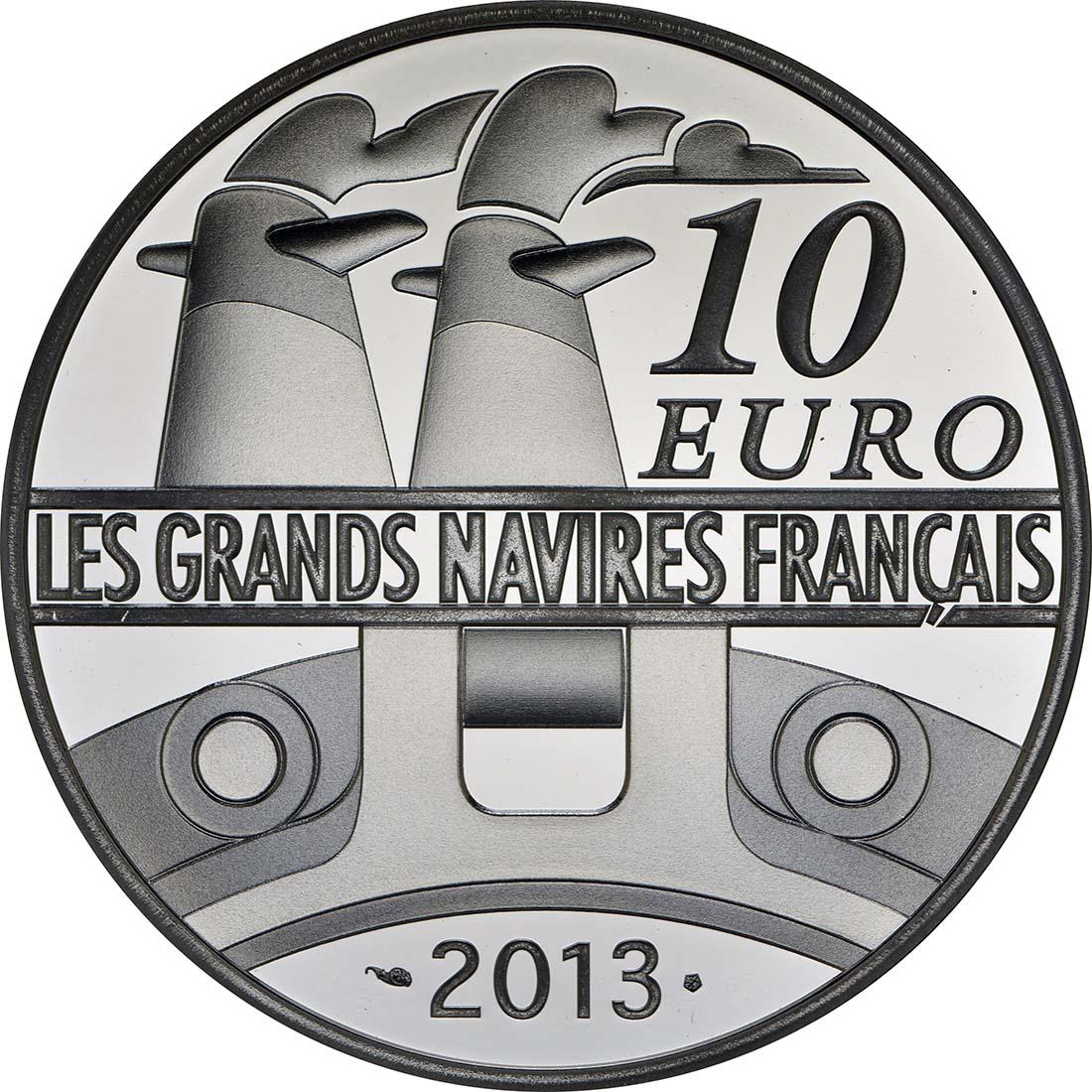 Rückseite:Frankreich : 10 Euro L'Amazone  2013 PP