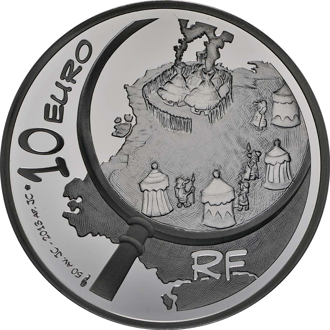 Rückseite:Frankreich : 10 Euro Asterix  2013 PP