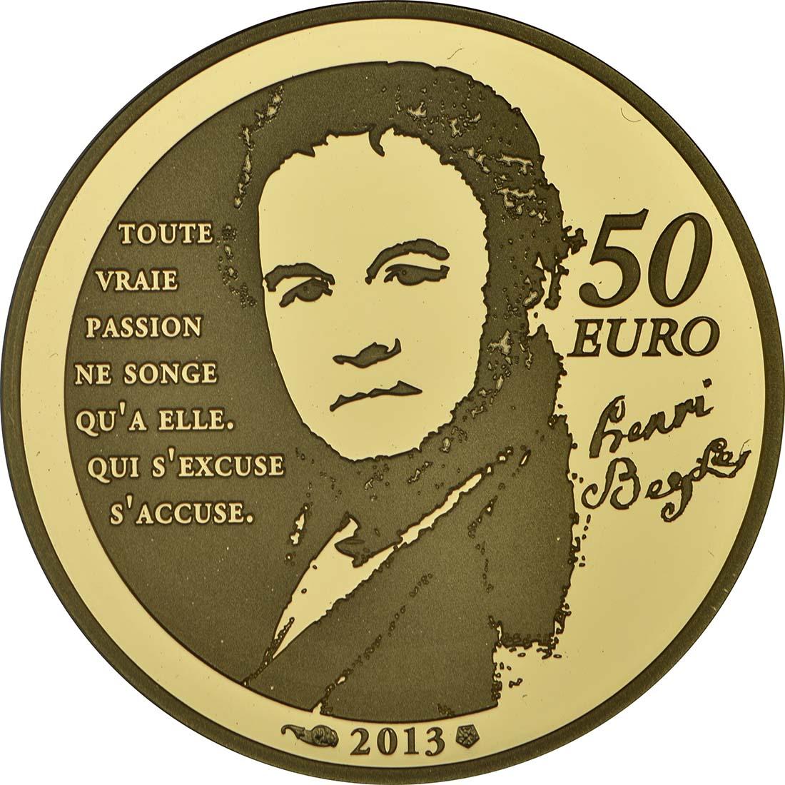 Rückseite:Frankreich : 50 Euro Julien Sorel  2013 PP