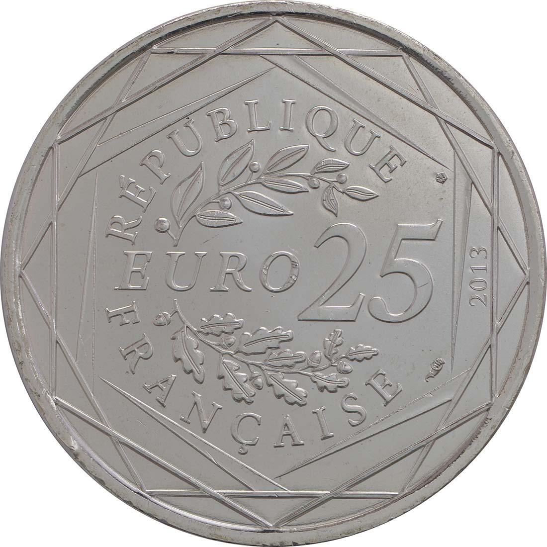 Rückseite:Frankreich : 25 Euro Gerechtigkeit  2013 Stgl.