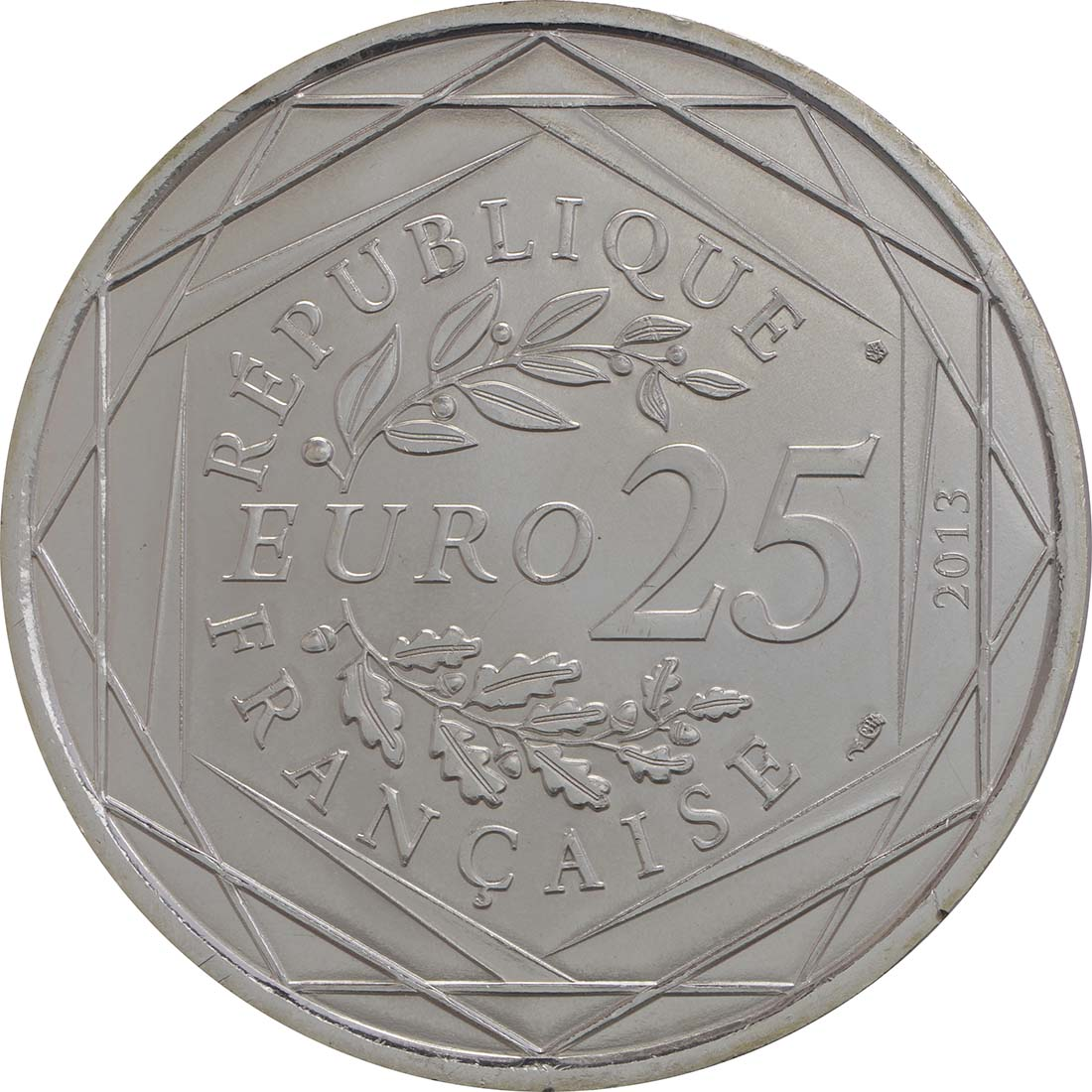 Rückseite:Frankreich : 25 Euro Säkularismus  2013 Stgl.