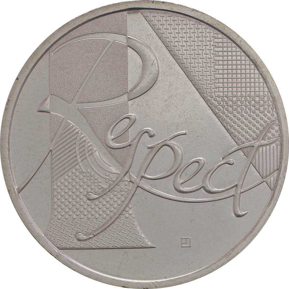Vorderseite:Frankreich : 25 Euro Respekt  2013 Stgl.