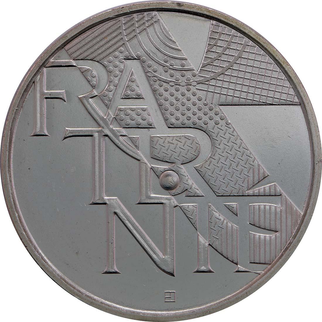 Vorderseite:Frankreich : 5 Euro Brüderlichkeit  2013 Stgl.