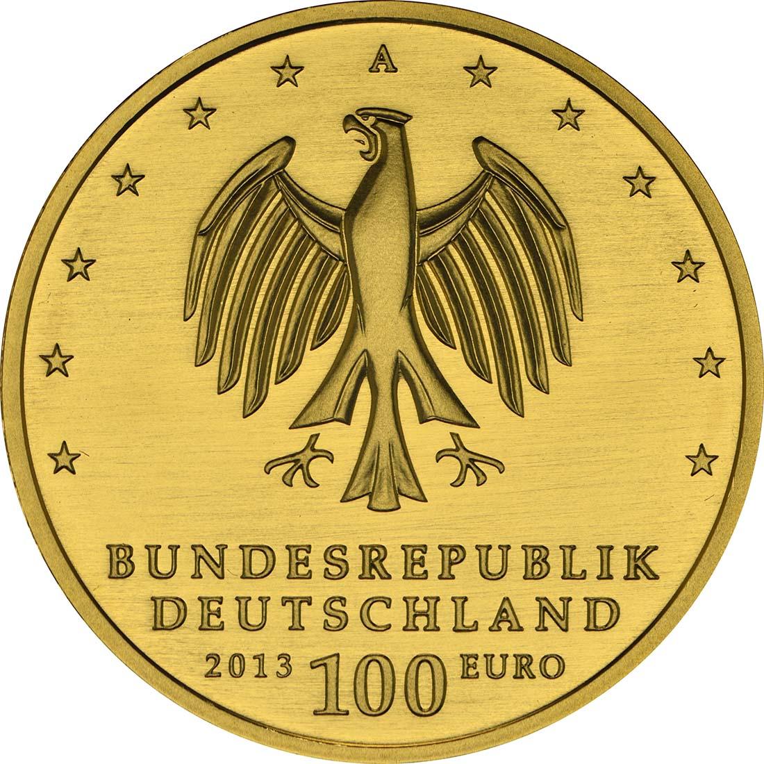 Rückseite :Deutschland : 100 Euro Gartenreich Dessau-Wörlitz Buchstabe unserer Wahl  2013 Stgl.