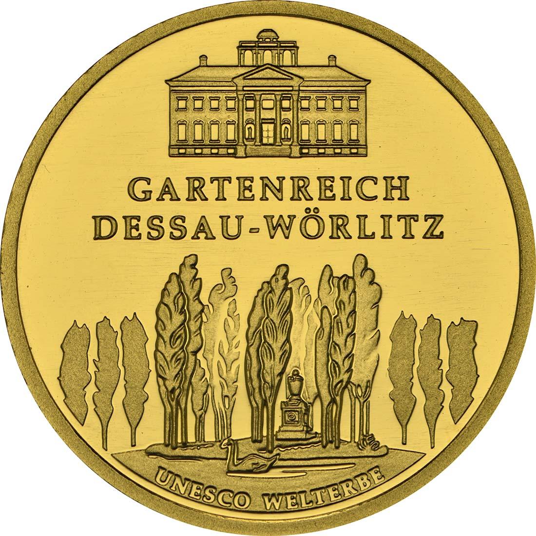 Vorderseite :Deutschland : 100 Euro Gartenreich Dessau-Wörlitz Buchstabe unserer Wahl  2013 Stgl.