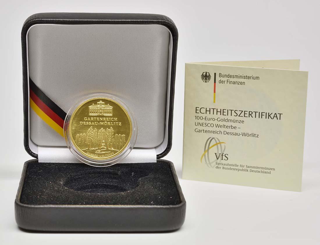 Lieferumfang :Deutschland : 100 Euro Gartenreich Dessau-Wörlitz  2013 Stgl.