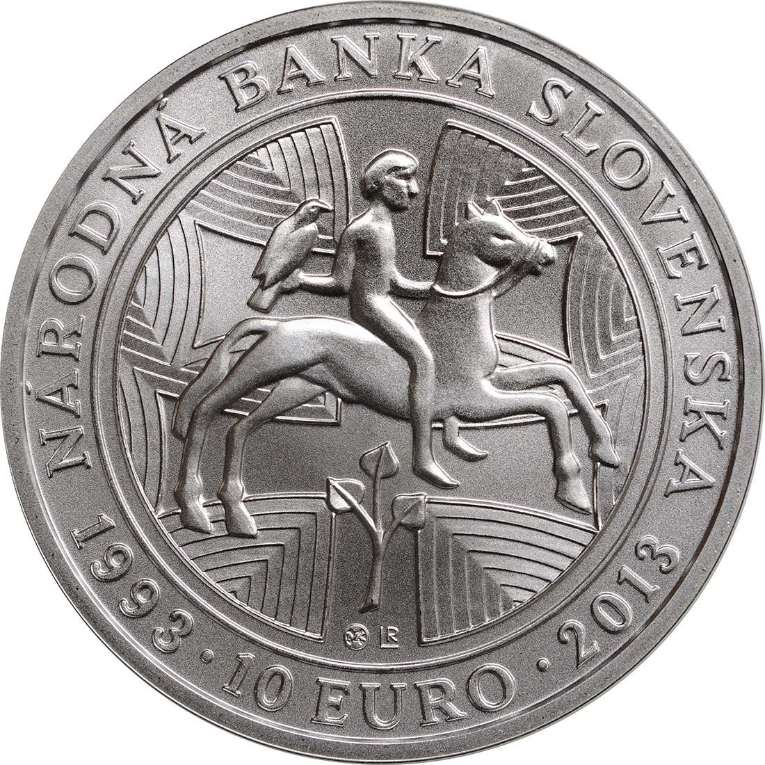 Rückseite:Slowakei : 10 Euro Nationalbank  2013 Stgl.