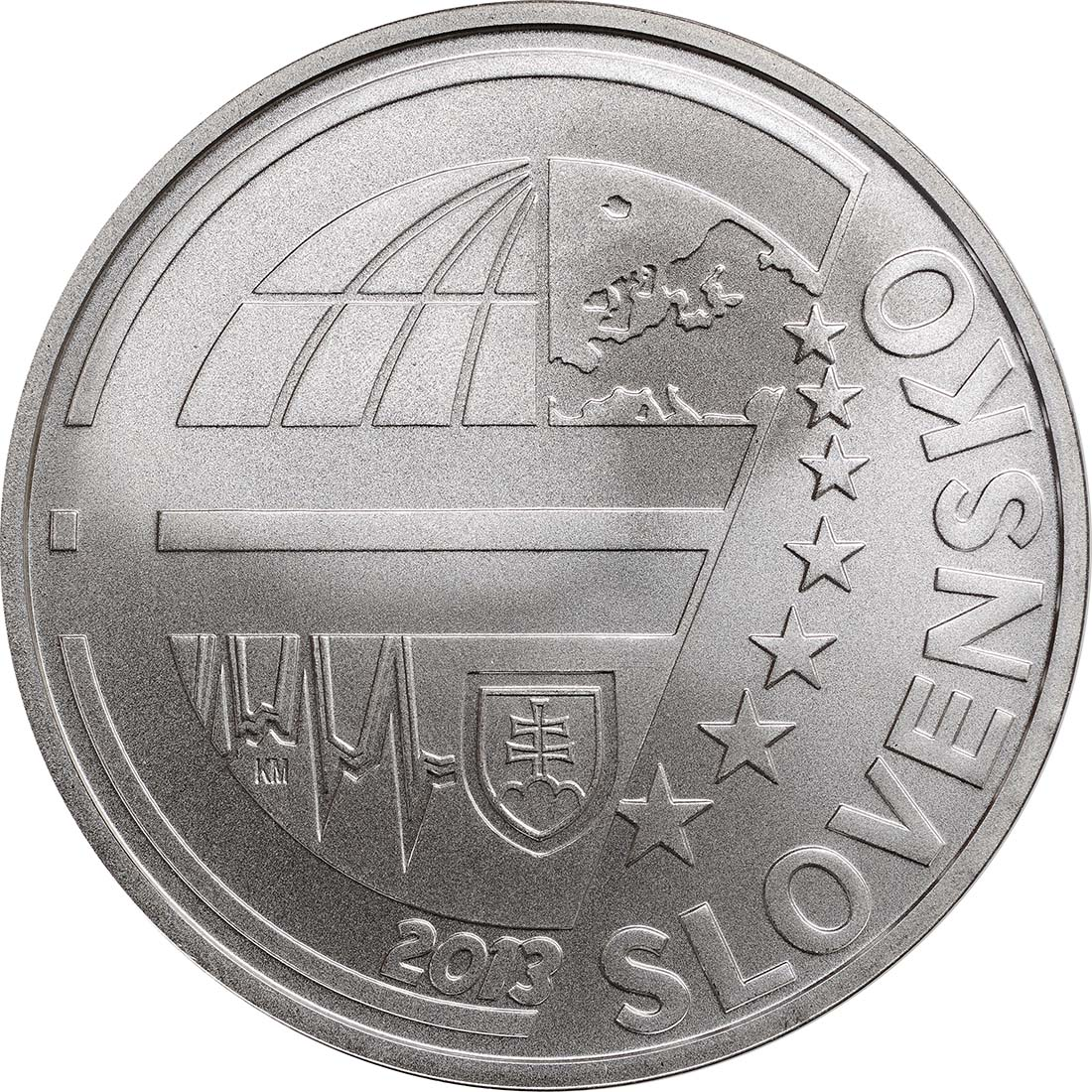 Vorderseite:Slowakei : 10 Euro Nationalbank  2013 Stgl.
