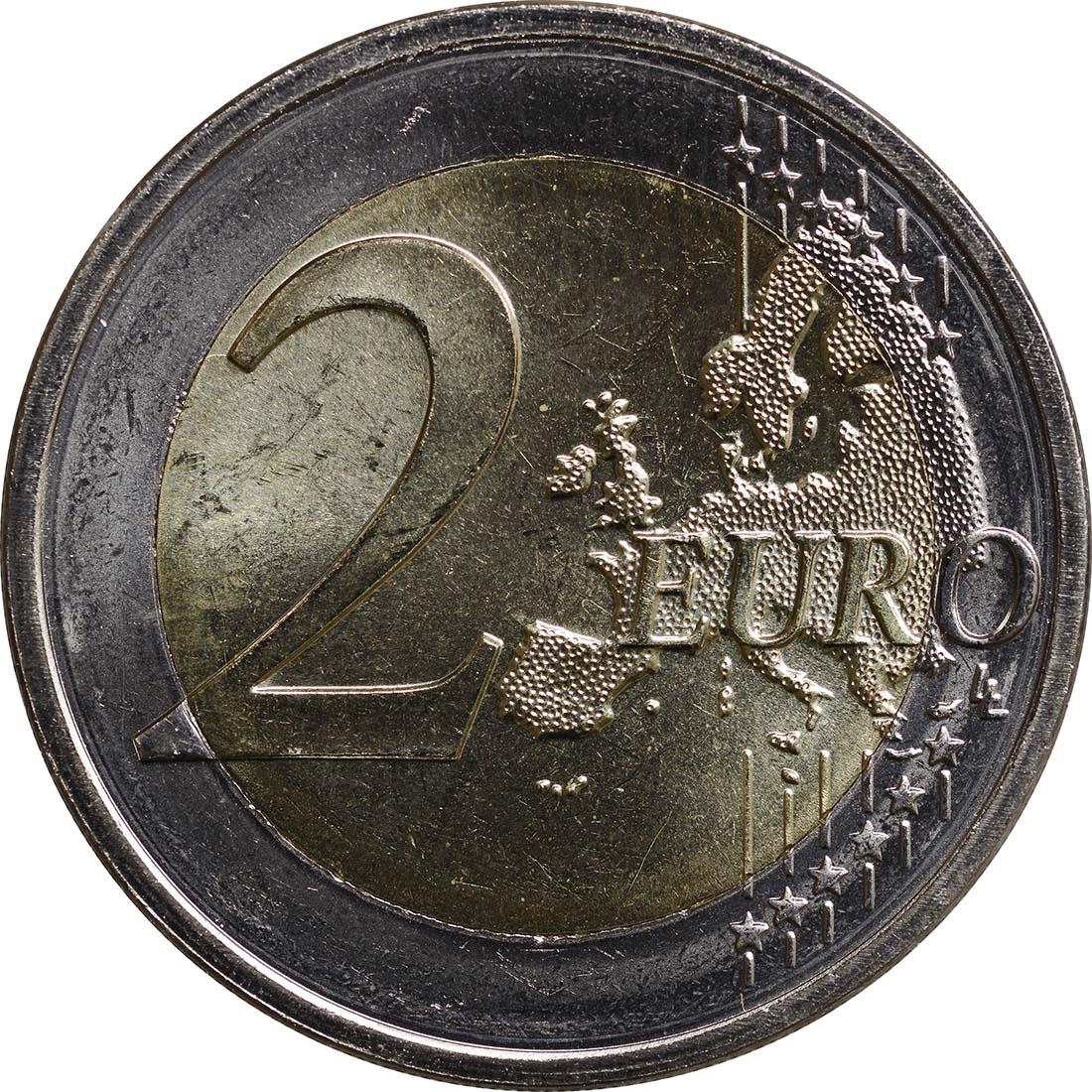 Vorderseite :Luxemburg : 2 Euro Hochzeit Guillaume und Stephanie  2012 bfr