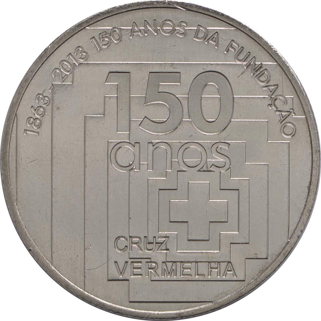 Vorderseite:Portugal : 2,5 Euro 150 Jahre Rotes Kreuz  2013 vz/Stgl.