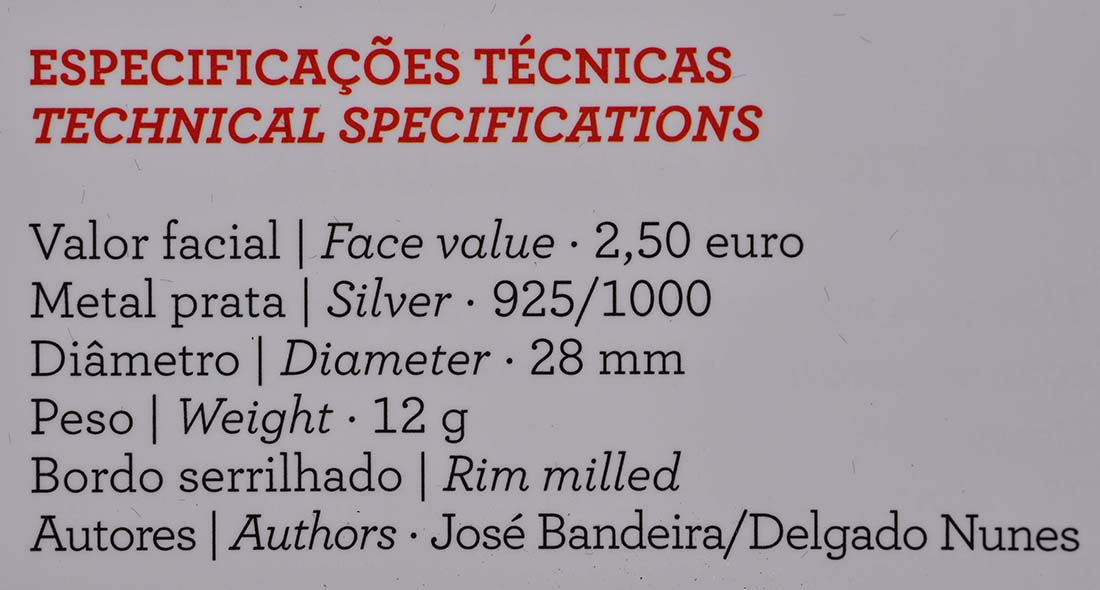 Zertifikat:Portugal : 2,5 Euro 150 Jahre Rotes Kreuz  2013 PP