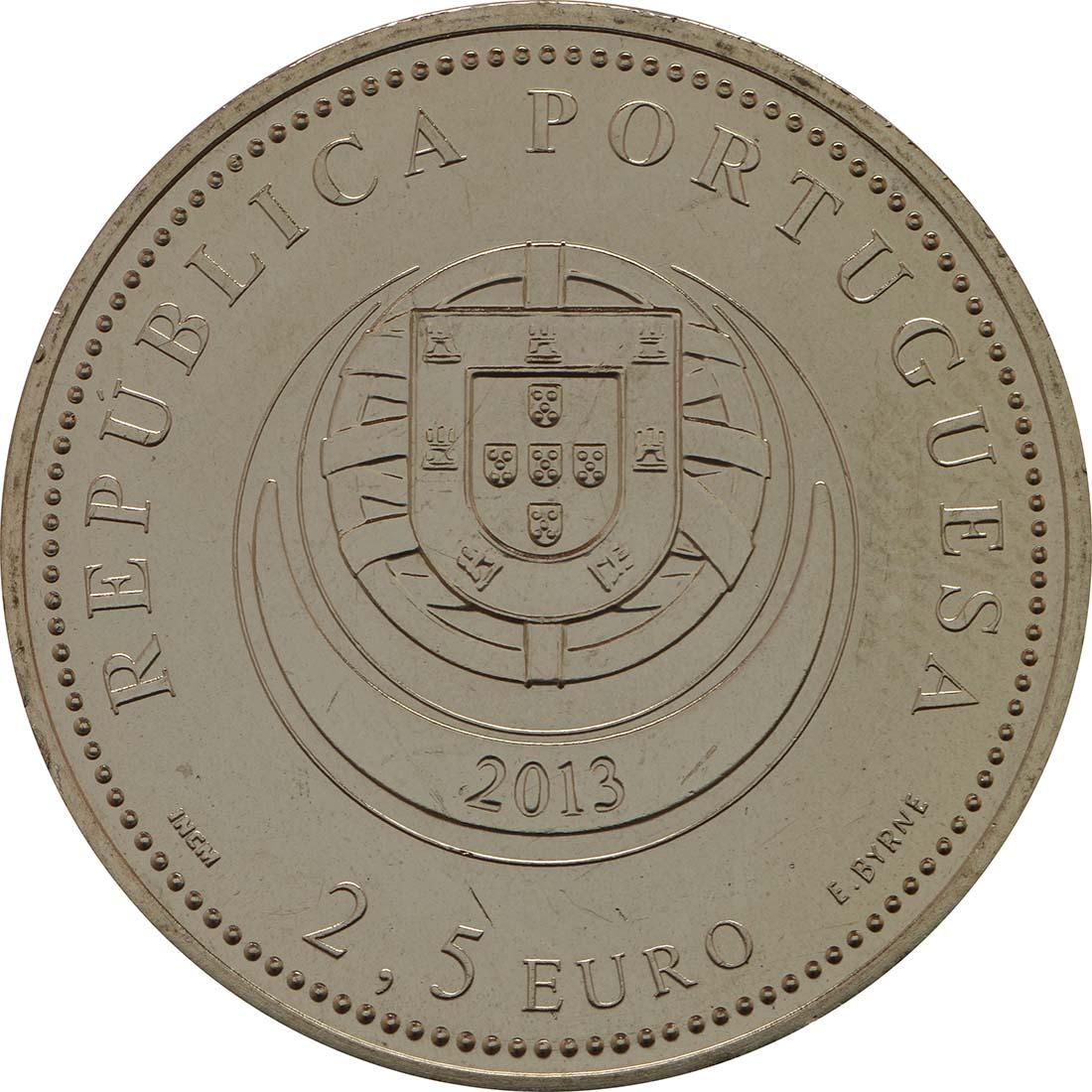 Rückseite:Portugal : 2,5 Euro Die Ohrringe Viana do Castelos  2013 Stgl.