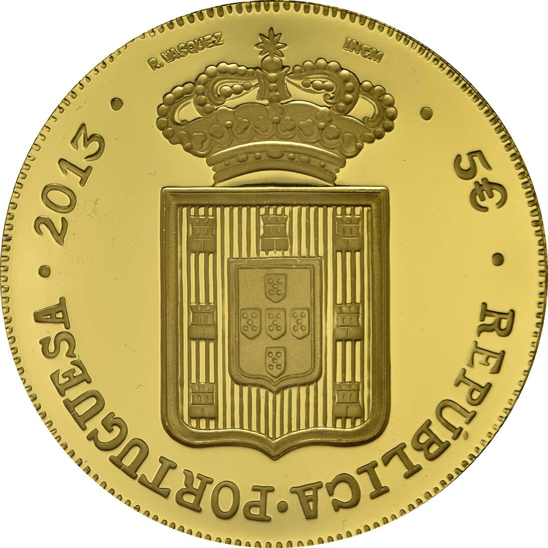Rückseite:Portugal : 5 Euro D. Maria II.  2013 PP