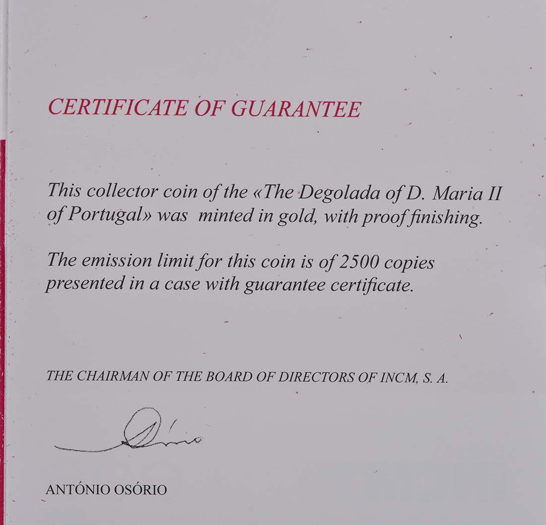 Zertifikat:Portugal : 5 Euro D. Maria II.  2013 PP
