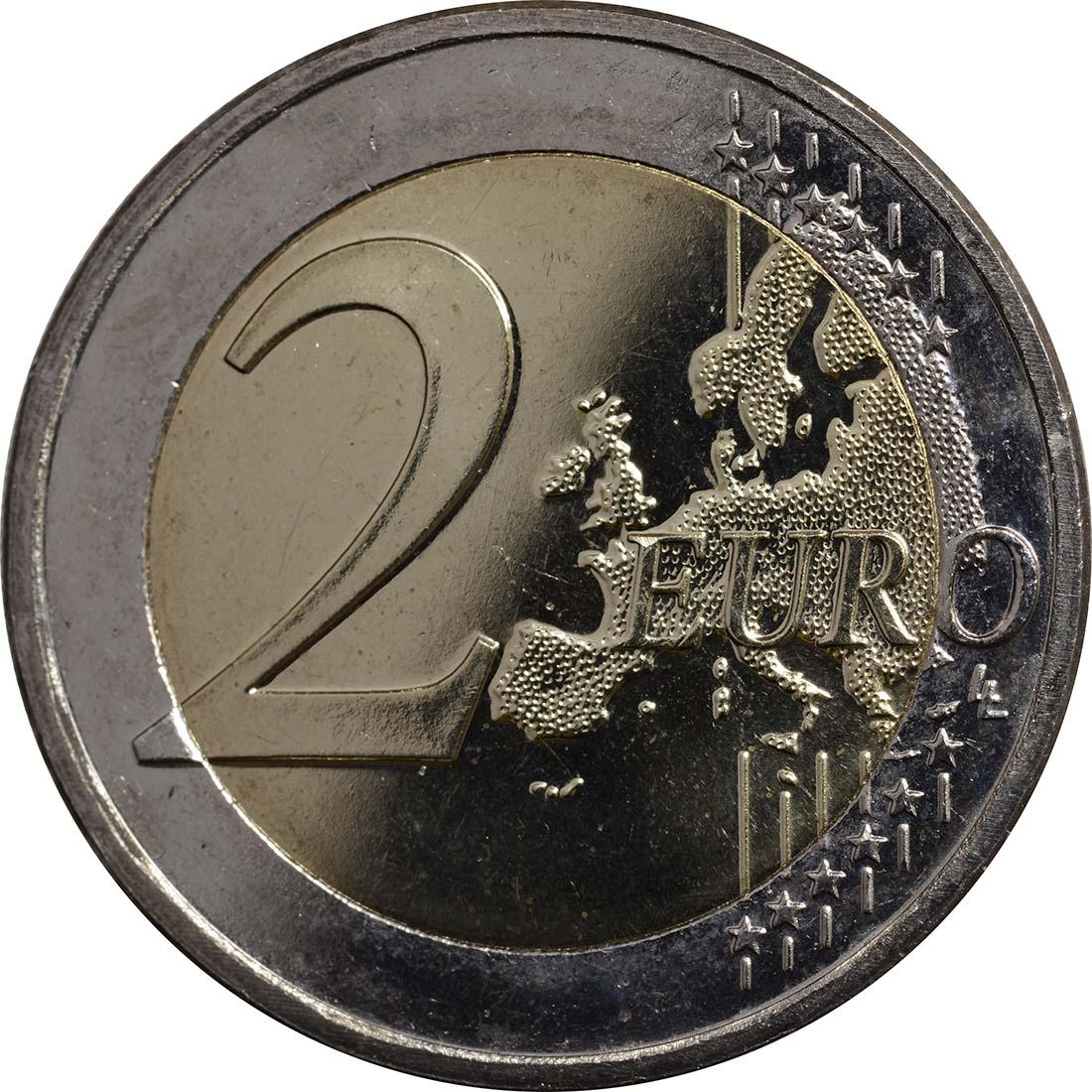 Vorderseite :Niederlande : 2 Euro Thronwechsel - Doppelportrait Beatrix / Willem Alexander  2013 vz.