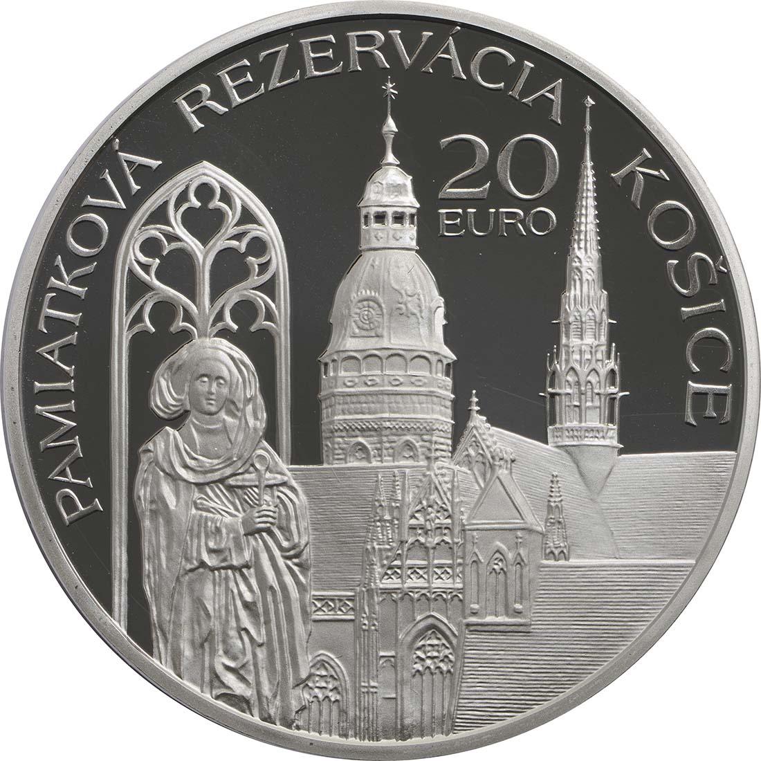 Rückseite:Slowakei : 20 Euro Kosice  2013 PP