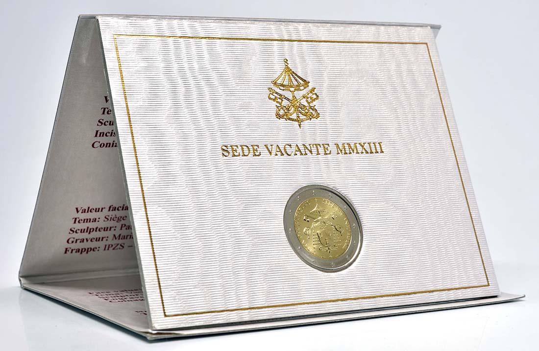 Lieferumfang :Vatikan : 2 Euro Sede Vacante  2013 Stgl.