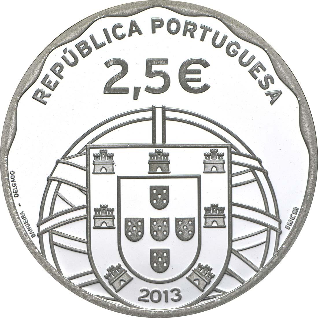 Rückseite:Portugal : 2,5 Euro 100 Jahre erstes portugiesisches U-Boot  2013 PP