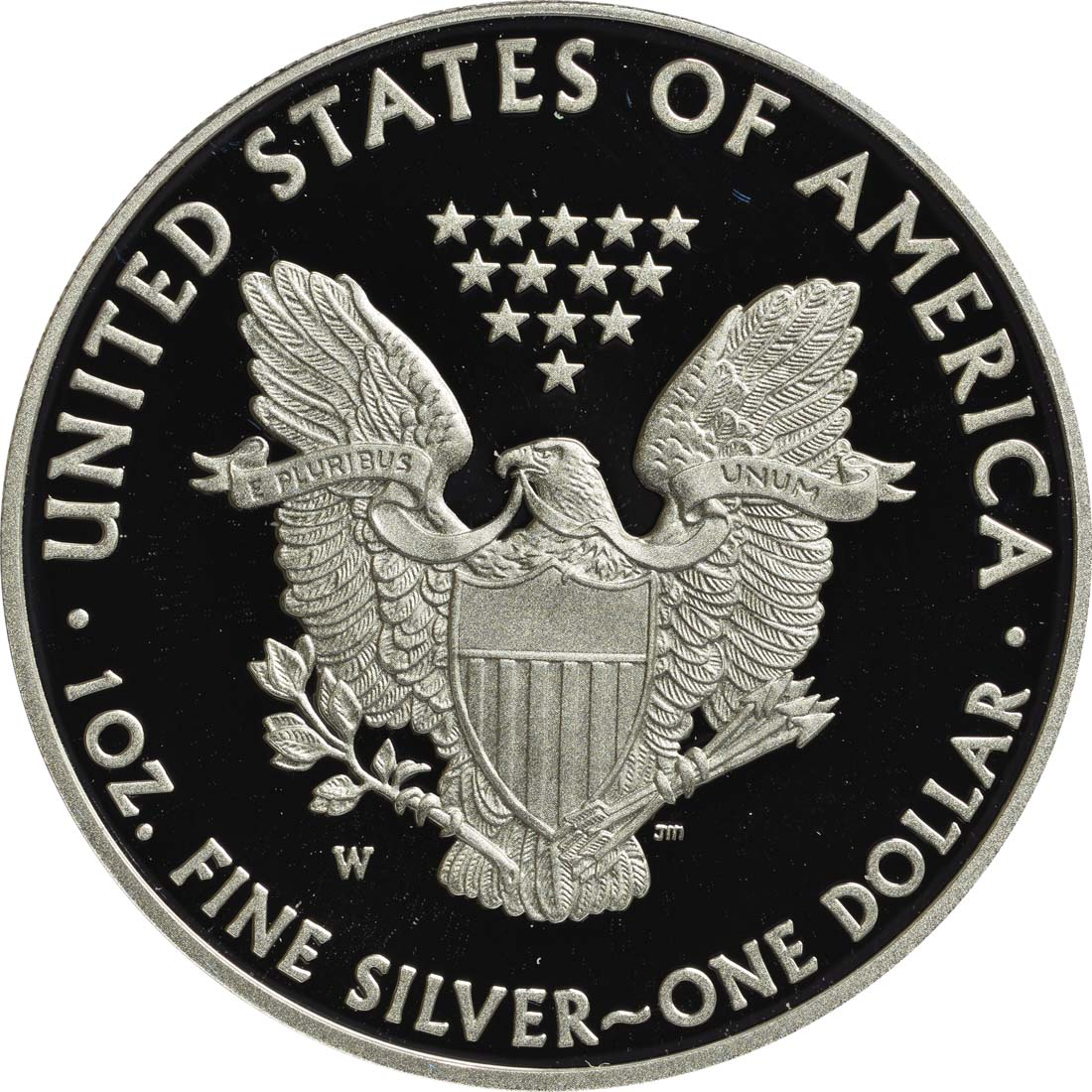 Rückseite :USA : 1 Dollar Eagle 1oz  2013 PP