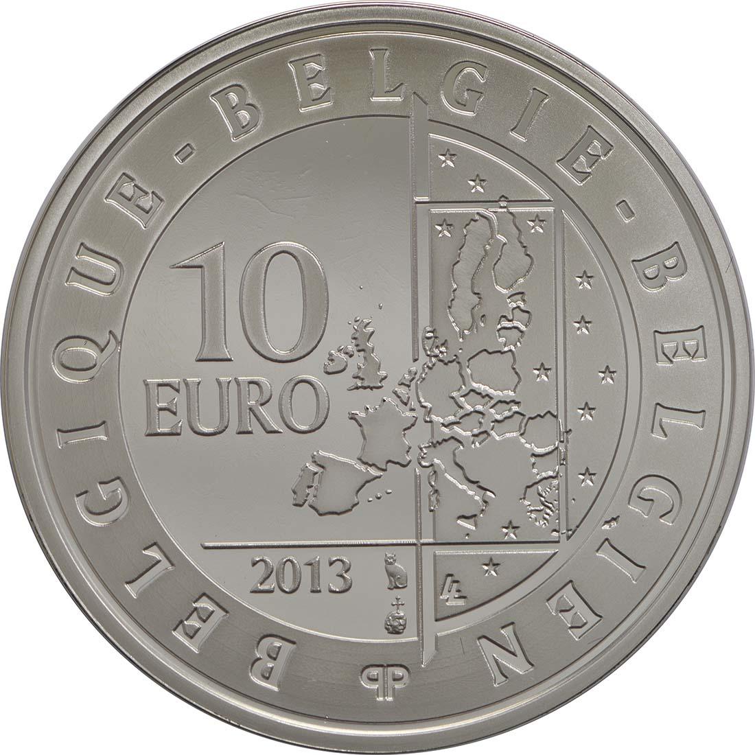 Rückseite:Belgien : 10 Euro 100 Jahre Flandern-Rundfahrt  2013 PP