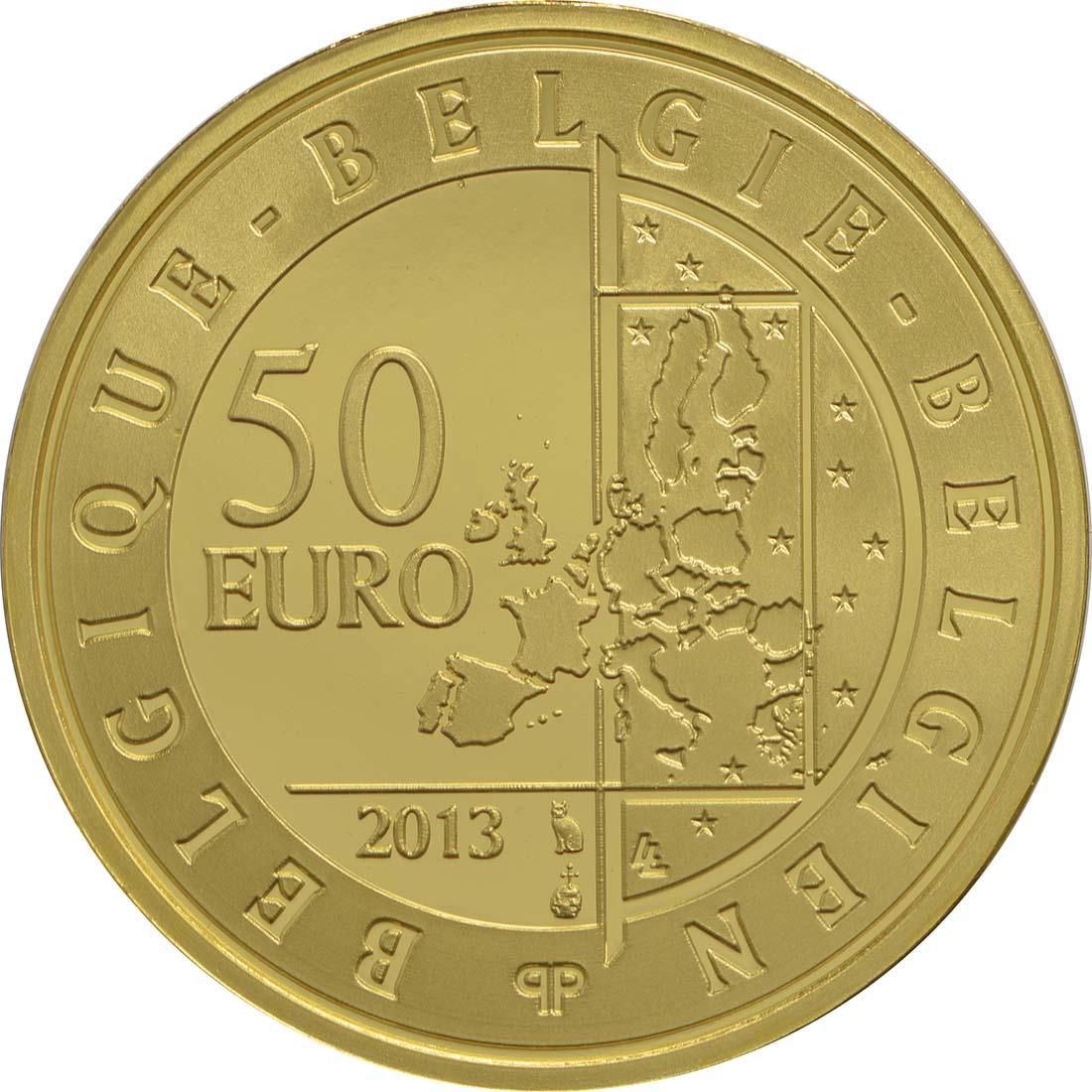 Rückseite:Belgien : 50 Euro Hugo Claus  2013 PP