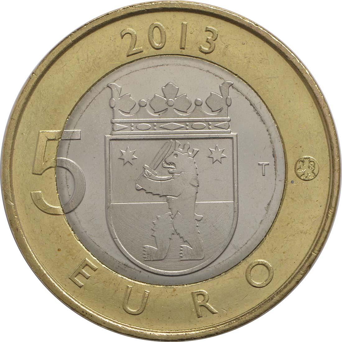 Rückseite:Finnland : 5 Euro Satakunta - Sammallahdenmäki (Steingräber)  2013 Stgl.