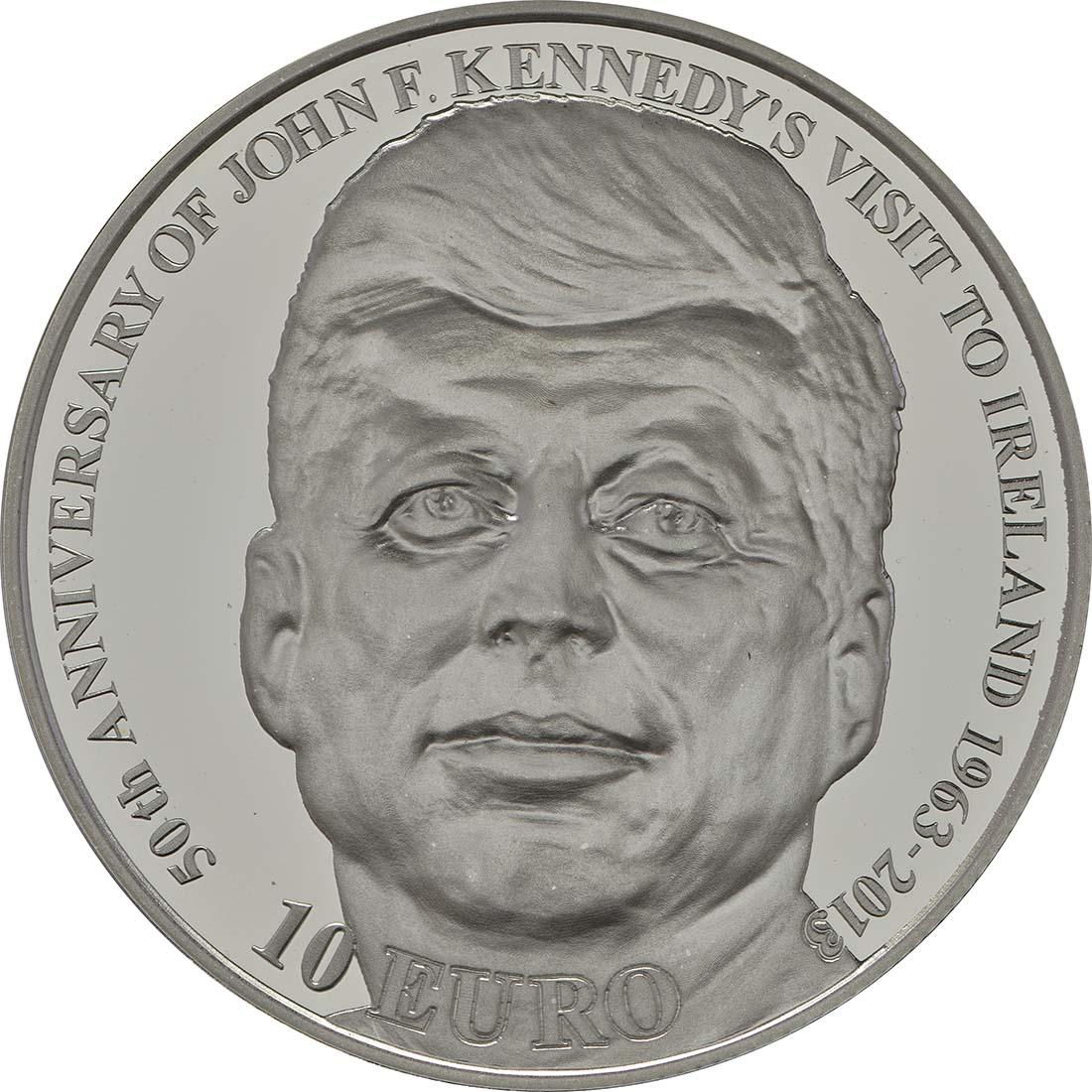 Vorderseite:Irland : 10 Euro 50 Jahre Irlandbesuch v. J. F. Kennedy  2013 PP