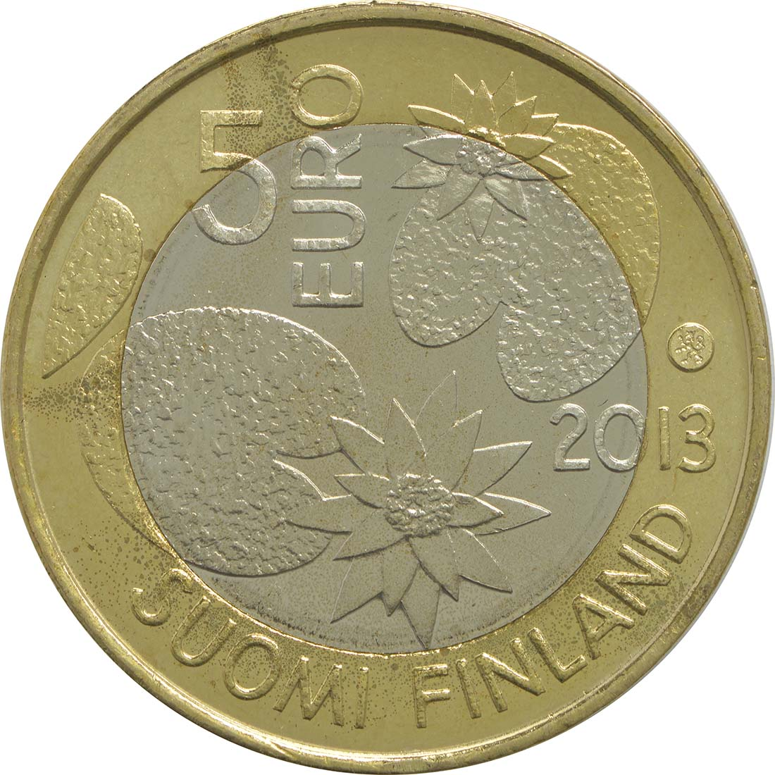 Rückseite:Finnland : 5 Euro Sommer  2013 vz/Stgl.