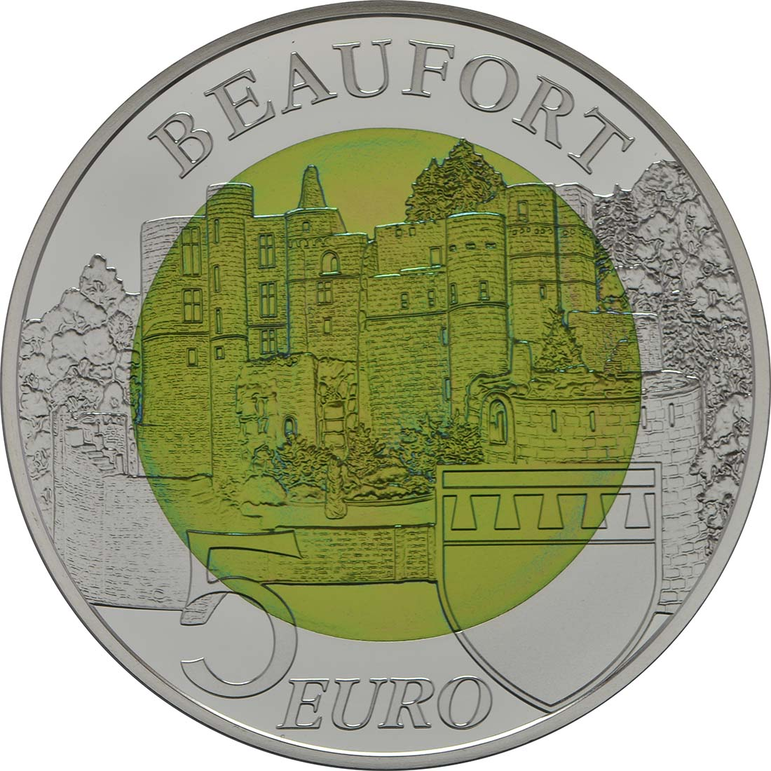 Rückseite:Luxemburg : 5 Euro Festung Beaufort  2013 PP