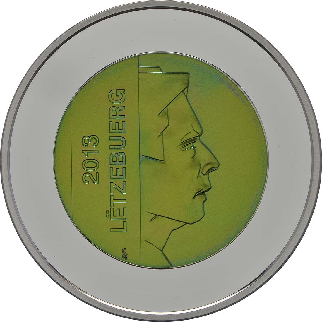 Vorderseite:Luxemburg : 5 Euro Festung Beaufort  2013 PP