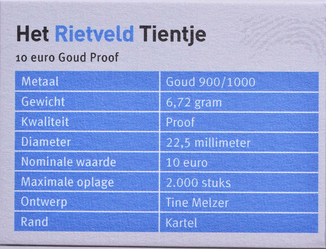 Zertifikat:Niederlande : 10 Euro Rietveld  2013 PP