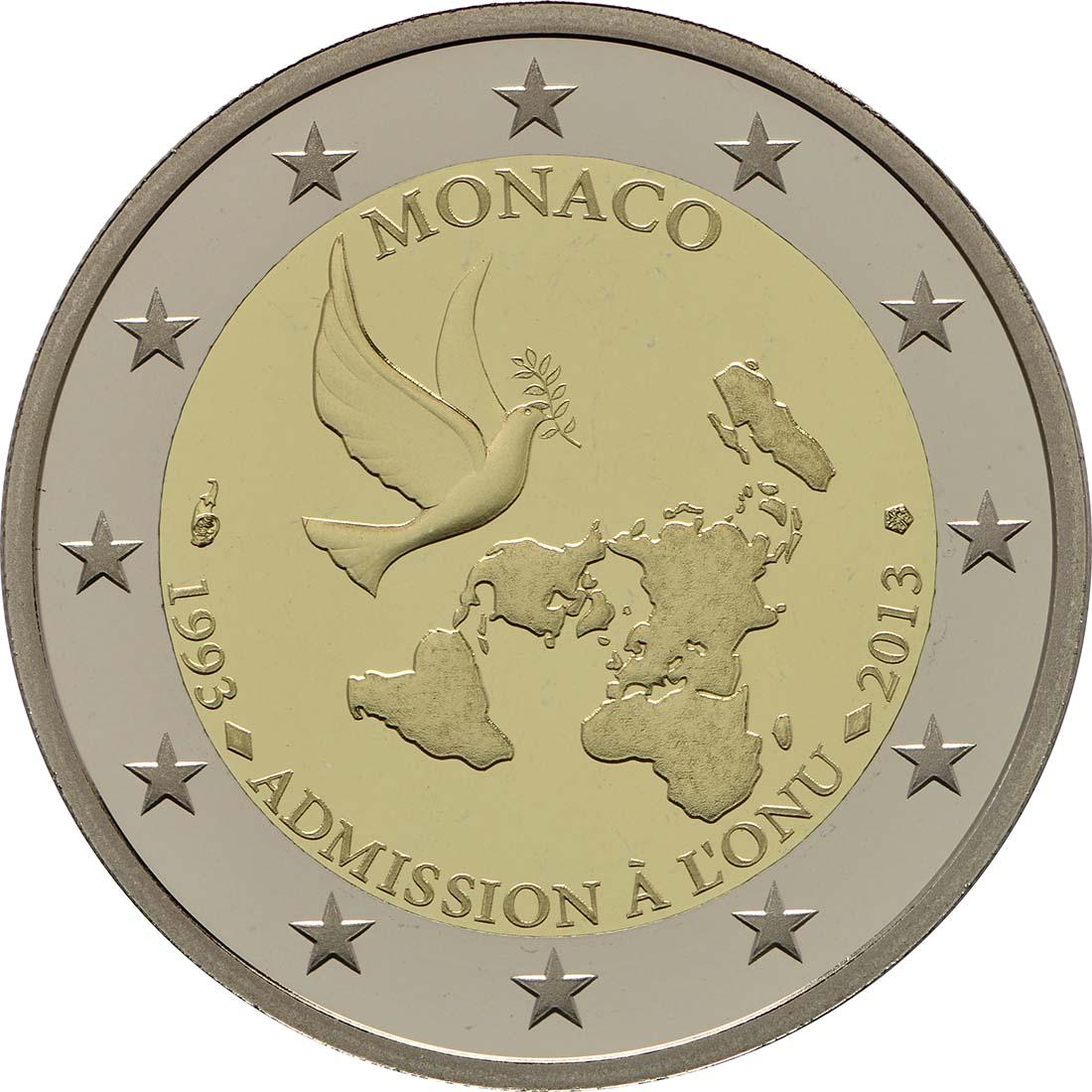 Rückseite:Monaco : 2 Euro Uno  2013 PP