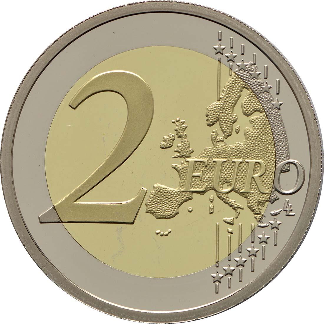 Vorderseite:Monaco : 2 Euro Uno  2013 PP