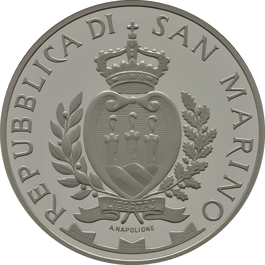 Rückseite:San Marino : 10 Euro Niccoló Machiavelli  2013 PP