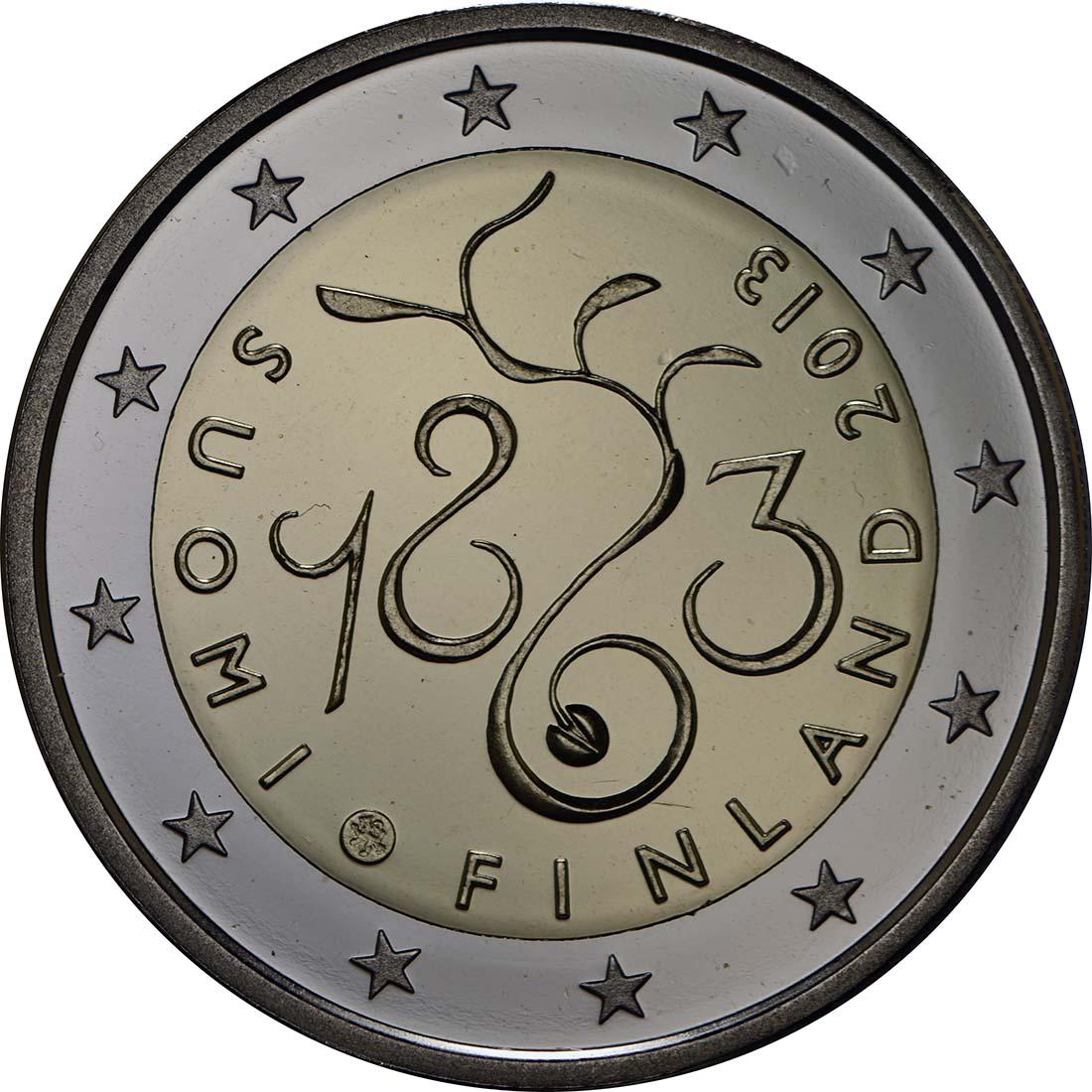 Rückseite:Finnland : 2 Euro Parlament von 1863  2013 PP