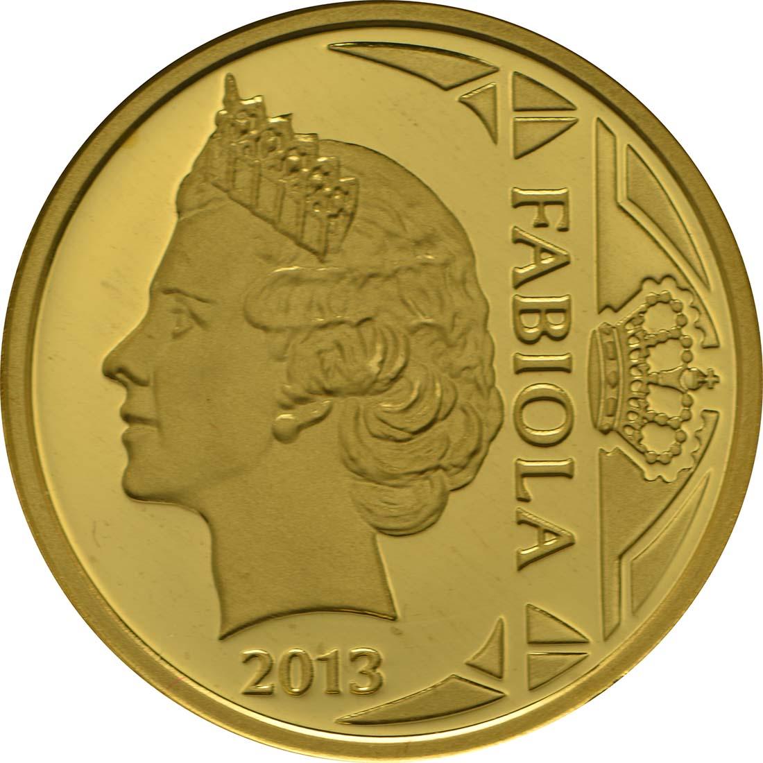 Vorderseite:Belgien : 12,5 Euro Königin Fabiola  2013 PP