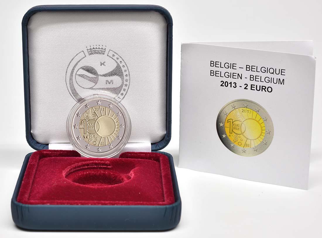 Lieferumfang:Belgien : 2 Euro Meteorologisches Institut  2013 PP