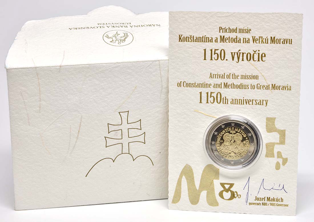 Lieferumfang :Slowakei : 2 Euro Cyrill und Method  2013 PP