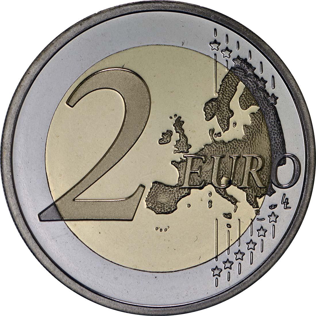 Vorderseite:Slowakei : 2 Euro Cyrill und Method  2013 PP