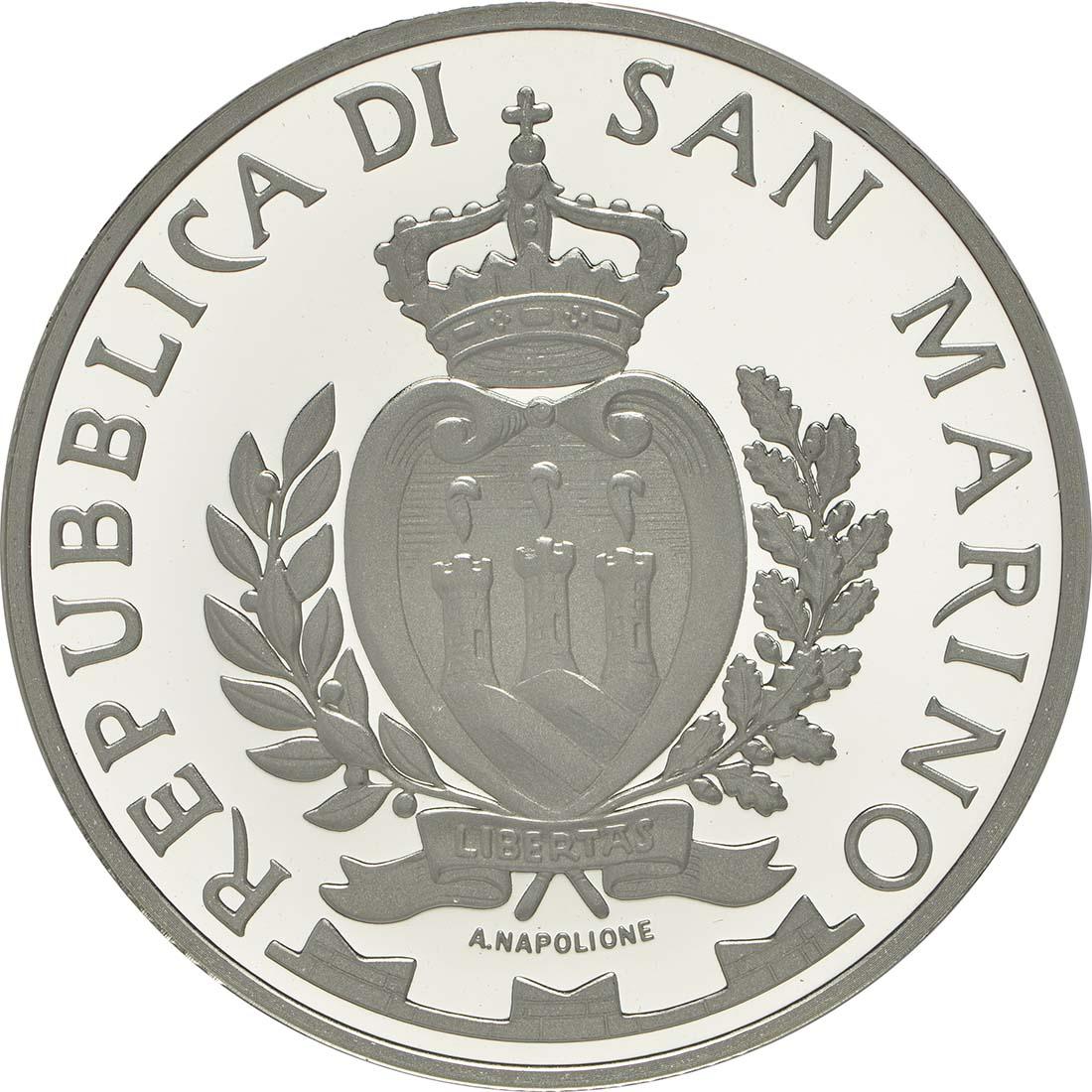 Rückseite:San Marino : 10 Euro 100. Jahrestag der Geburt Emilio Grecos  2013 PP