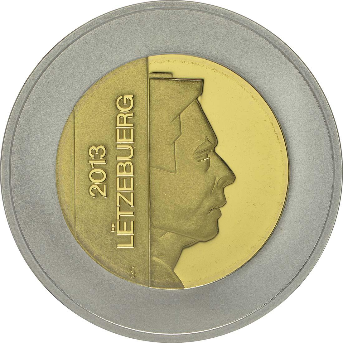 Vorderseite:Luxemburg : 5 Euro Honigbiene - Biene  2013 PP Biene