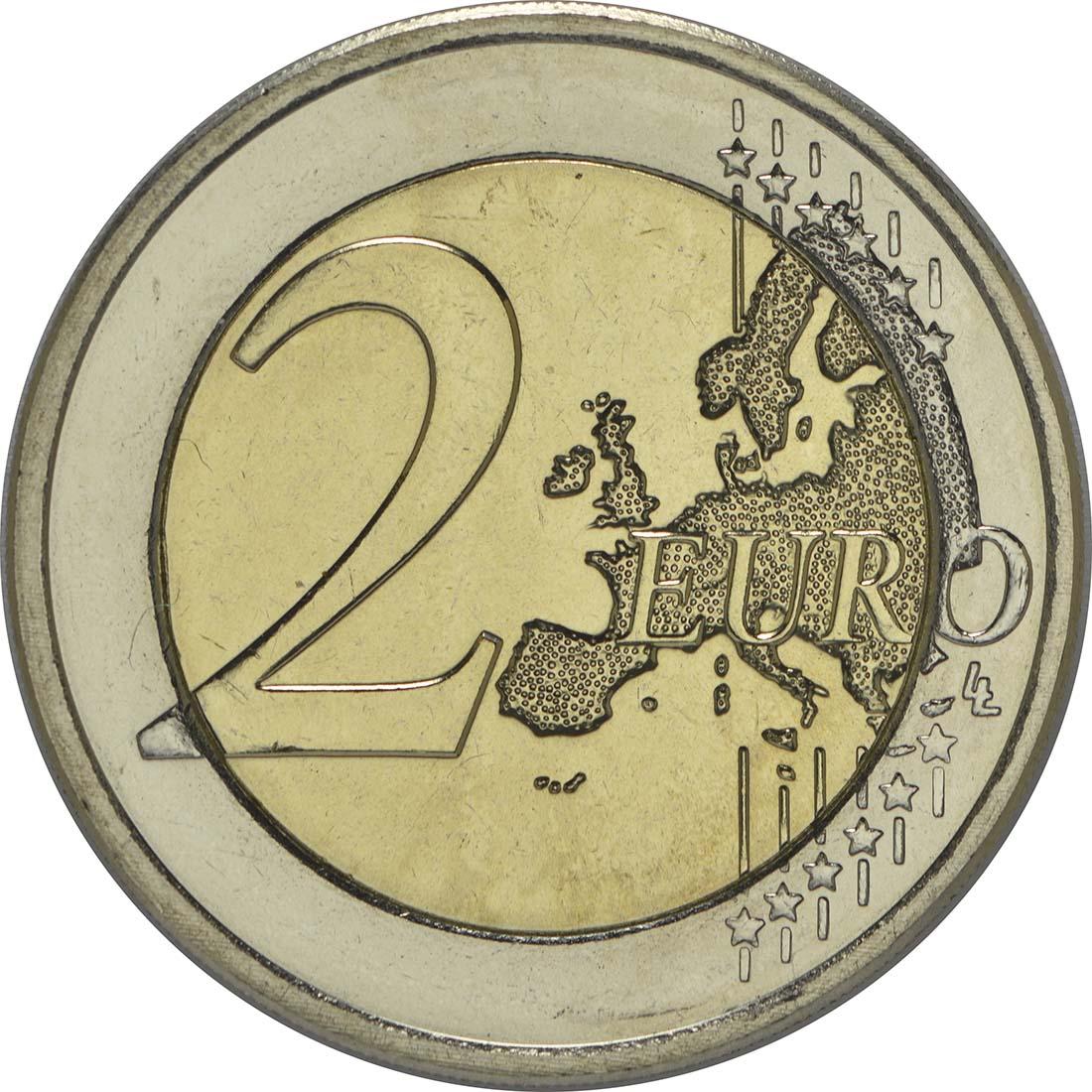 Vorderseite :Luxemburg : 2 Euro Nationalhymne  2013 bfr