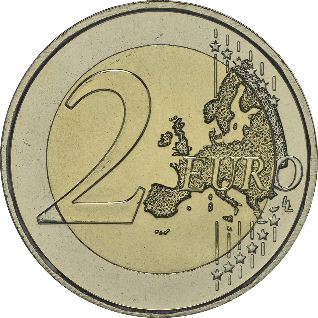 Vorderseite:Niederlande : 2 Euro Königreich  2013 bfr